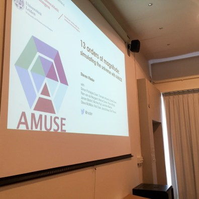 AMUSE logo for astrophysics group in Leiden