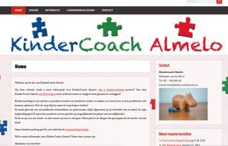 Kindercoach Website www.kindercoachalmelo.nl