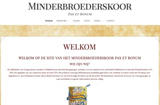 Minderbroederskoor Website www.minderbroederskoor.nl
