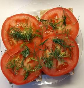 Tomati-toorjuustu näkileib