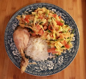 Kanakoib riisi ja aedviljadega