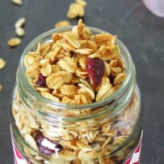 Maple Sunflower Seeds Granola