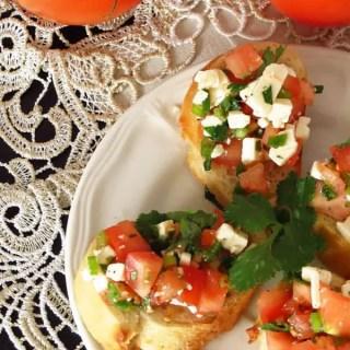 Cilantro Feta Cheese Mini Appetizer Sandwiches