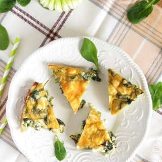 Crustless Feta Spinach Quiche
