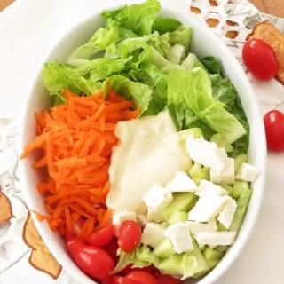 Feta Carrot Salad with Honey Mustard Dressing