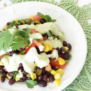 Mexican Salad with Avocado Dressing