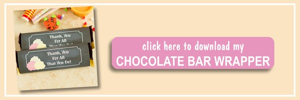 DIY Back to School Chocolate Bar Wrapper Printable - Ilona's Passion