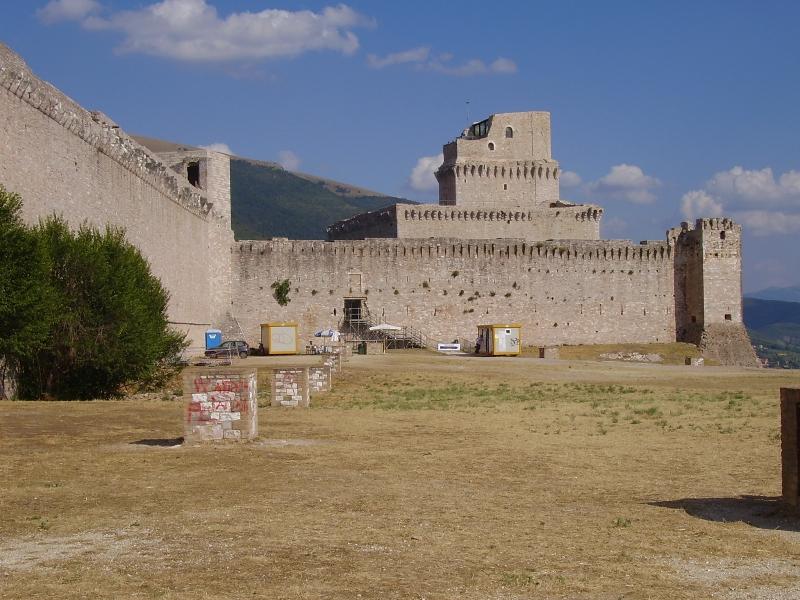 zřícenina v Assisi