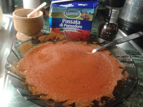 pasírovaná rajčata