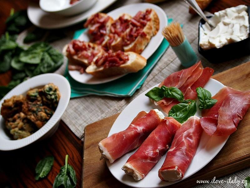 italský aperitiv a předkrmy