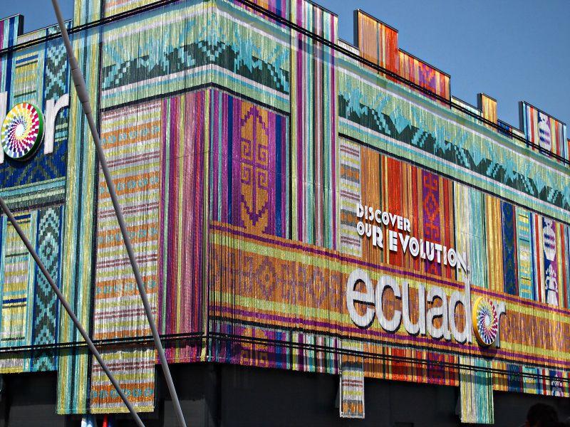 ekvádorský pavilon, asi nejkrásněji barevný z celého expa