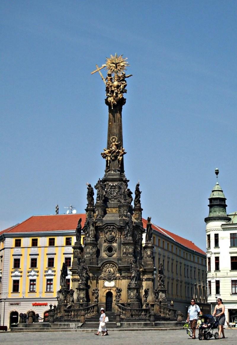 Olomouc centrum - sloup svaté trojice