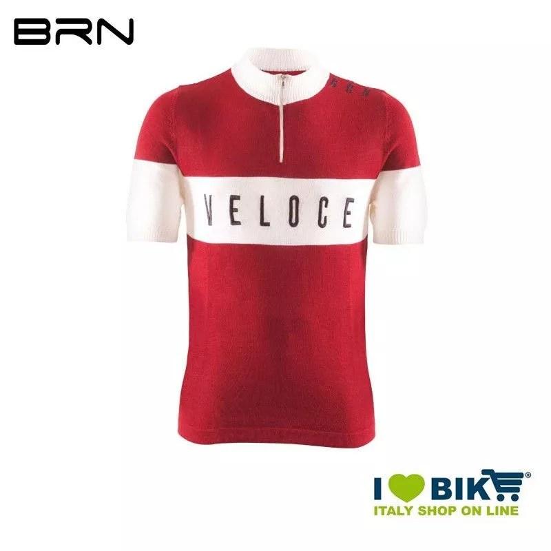 Maglia Brn Vintage Veloce Rossa Maniche Corte 2019