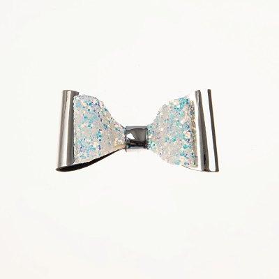 Τσιμπιδάκι κλιπ, mirror ασημί, glitter multi