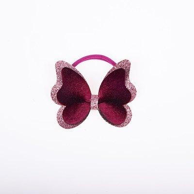 Λαστιχάκι, διπλή πεταλούδα, γκλίτερ, βελούδο, boysenberry