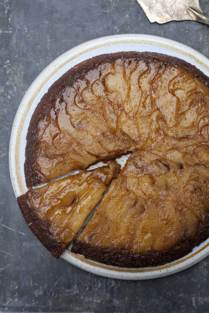 UPSIDE_DOWN_PEAR_AND_GINGER_CAKE; Lynda_booth_dublin_cookery_school; from_lyndas_table; i_love_cooking_recipe