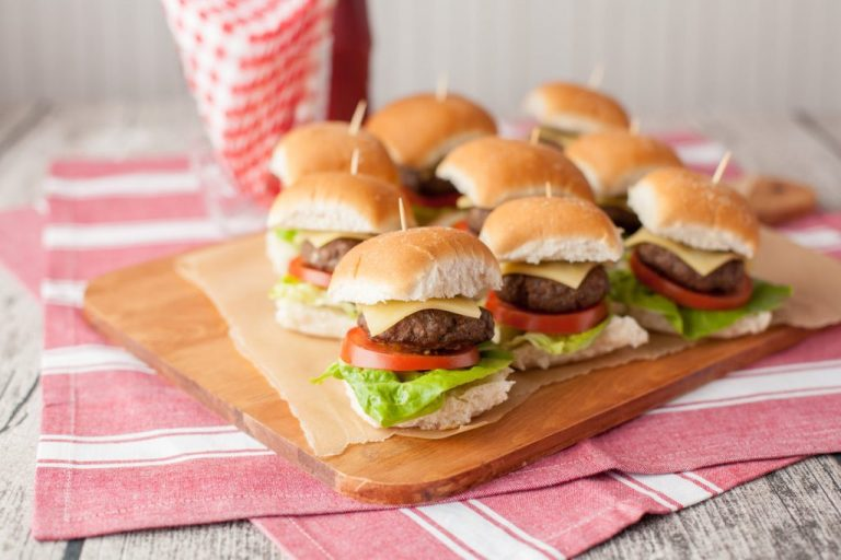 mini beef sliders perfect for kids birthday parties