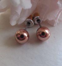 Copper 8mm Stud Earrings CE1065D02