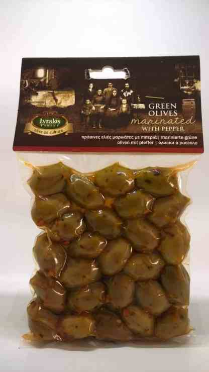 Green olives with peper.