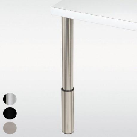 pied de bar reglable chrome inox ou noir hauteur 910 a 1010 mm