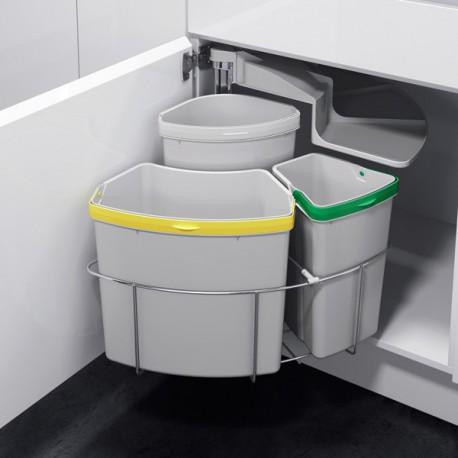 poubelle tri selectif pivotante 3 bacs 39 litres