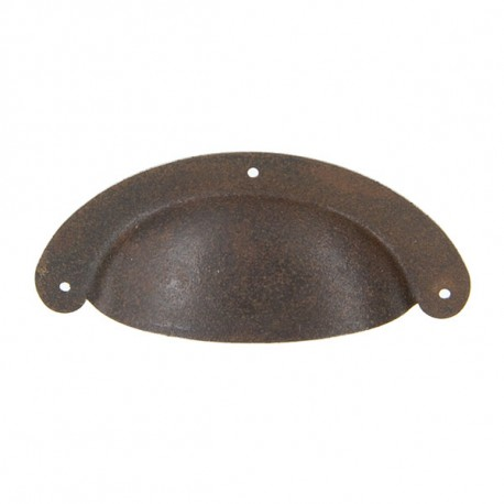 poignee coquille style vintage effet rouille rusty