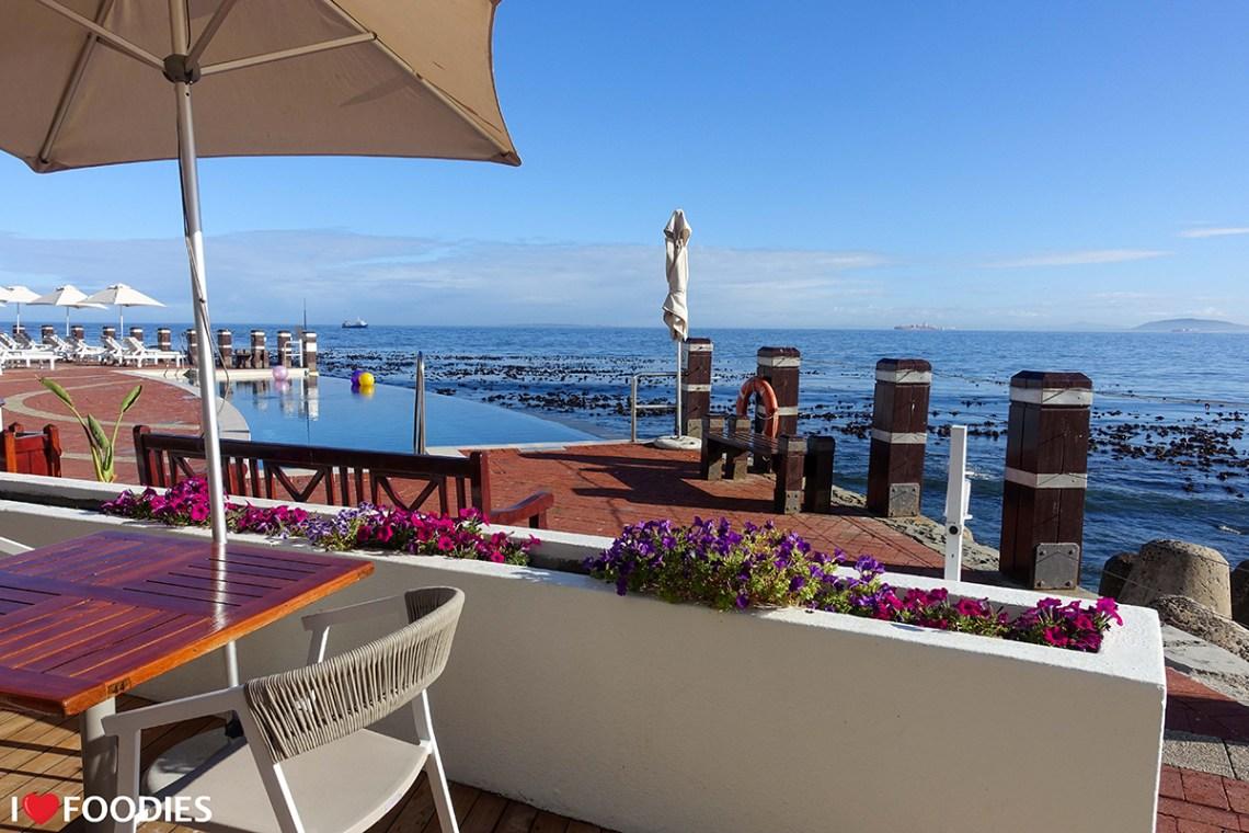 Ocean views from the Radisson Blu Hotel terrace