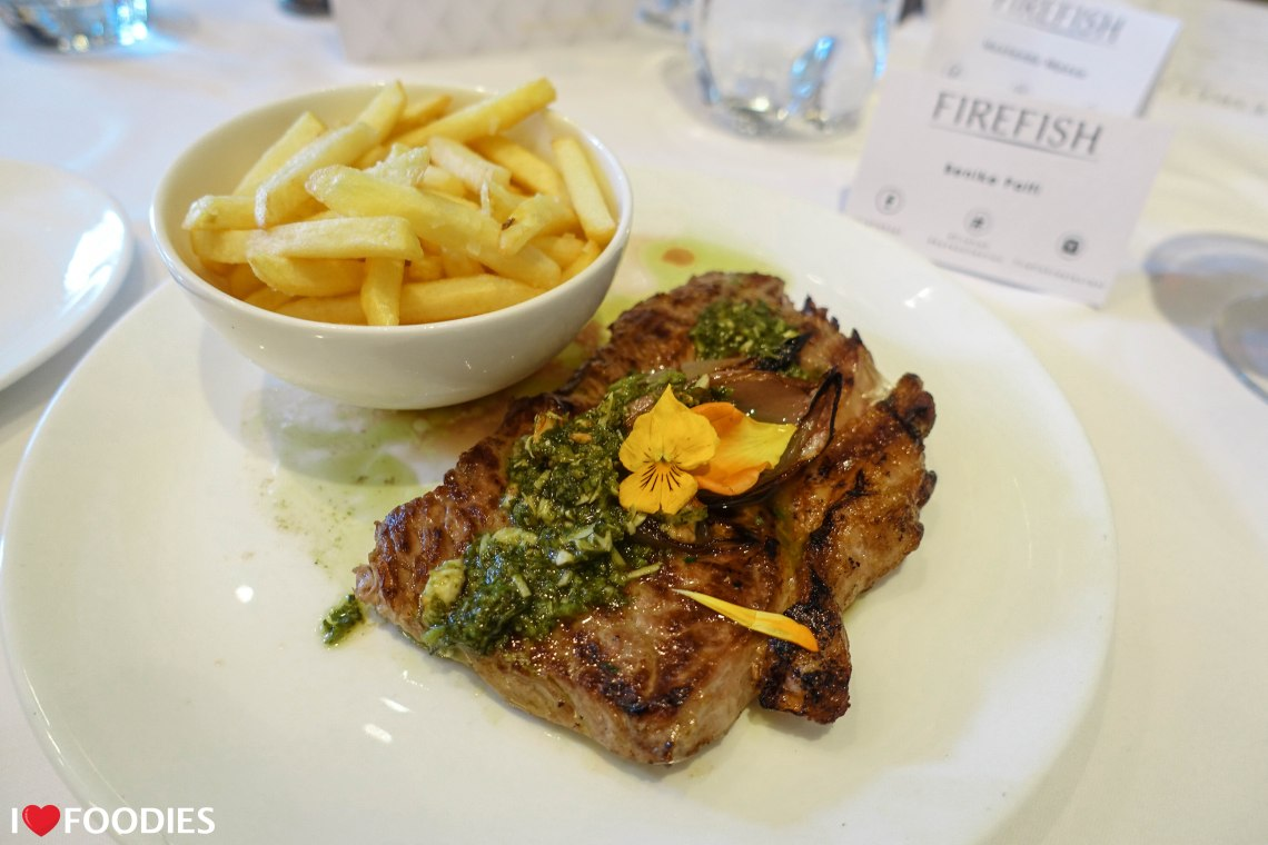 Firefish grilled sirloin