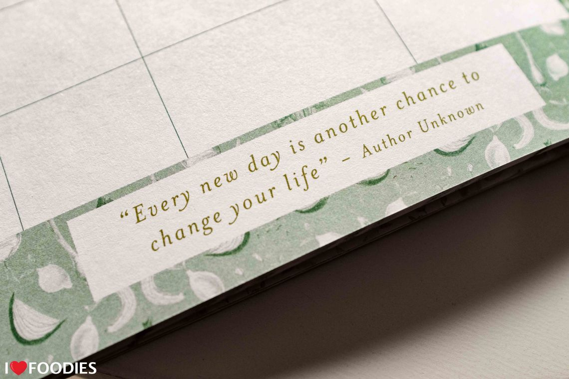 Food Journal Box Press Quote