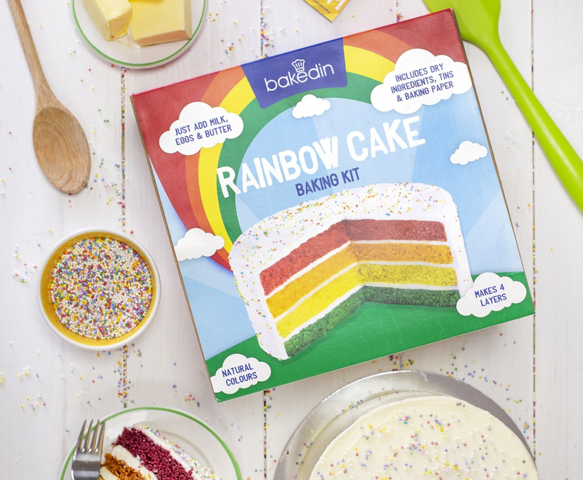 UK Lockdown Food Baked In Rainbow Cake Baking Kit
