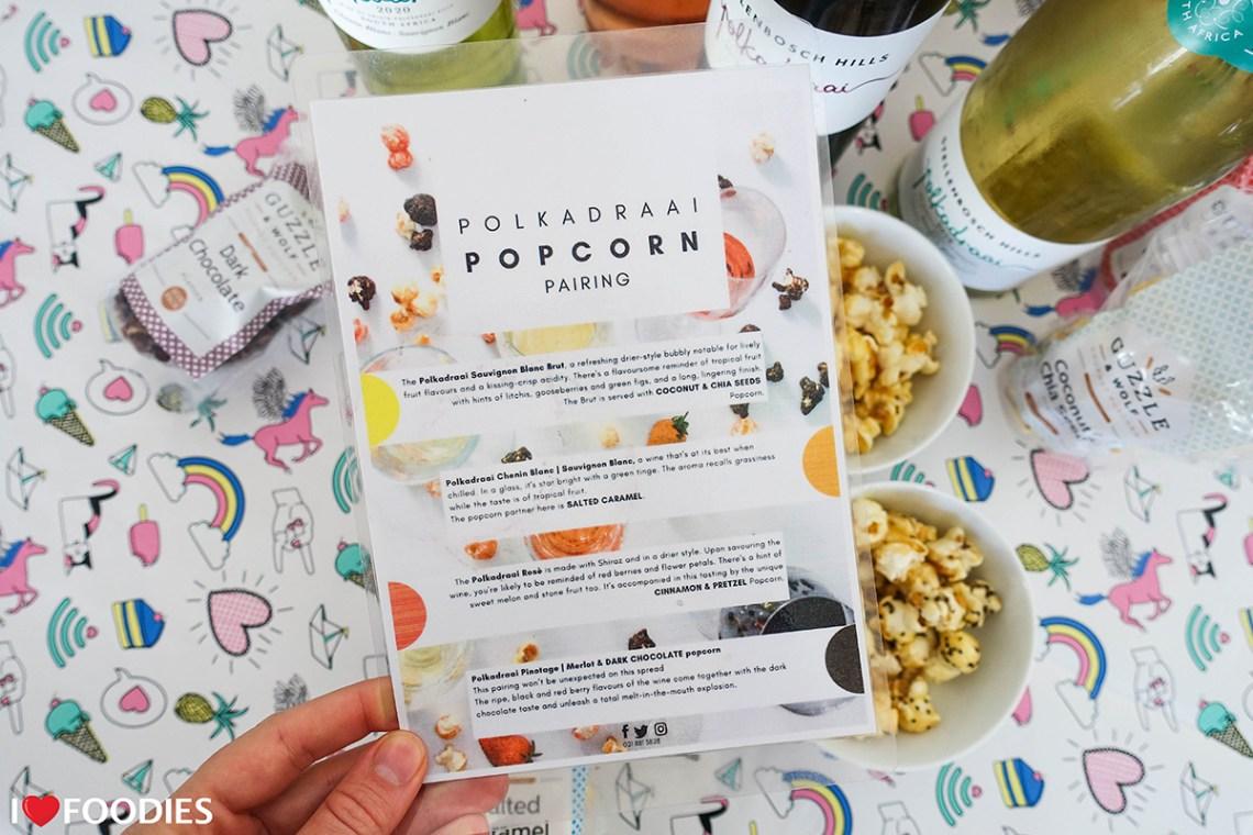 Stellenbosch Hills Polkadraai and Popcorn Pairing