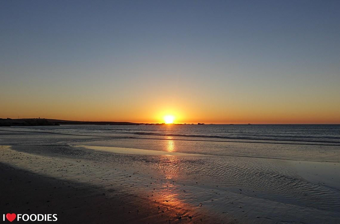 Beach sunset in Paternoster