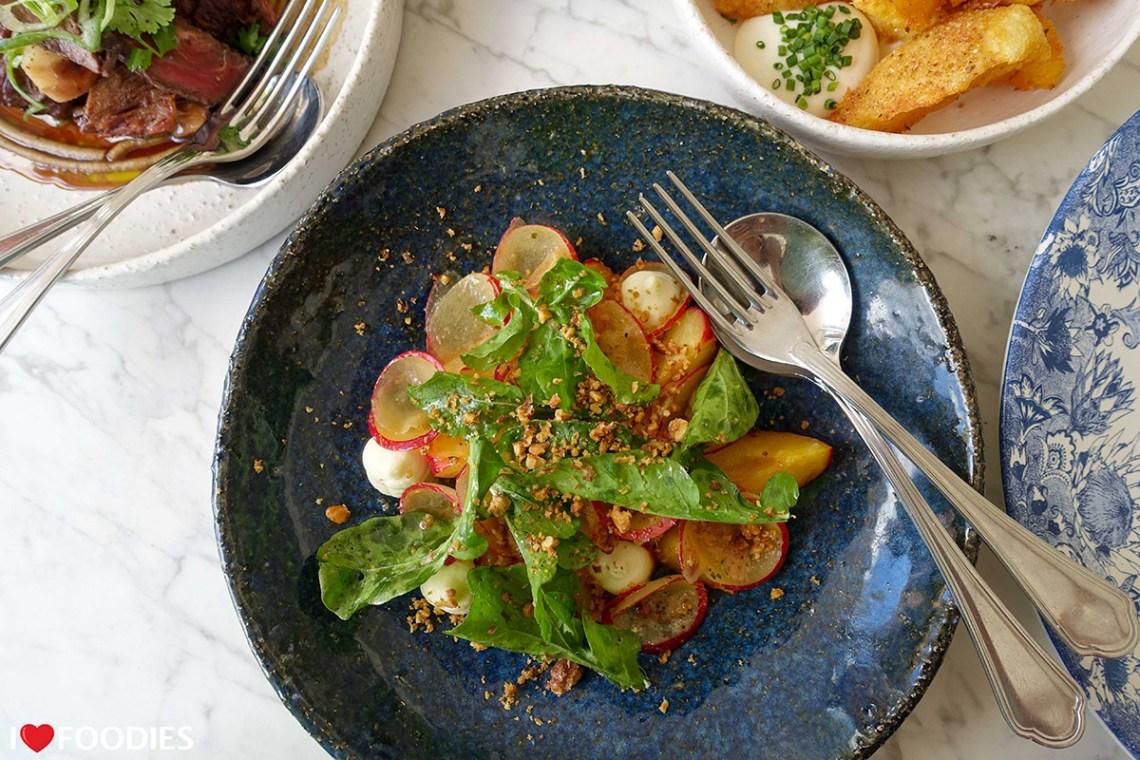 Farm-fresh smoked plum salad