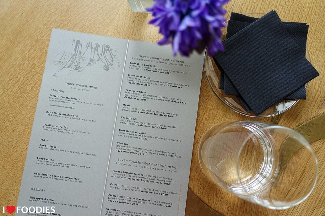 Gate Restaurant menu