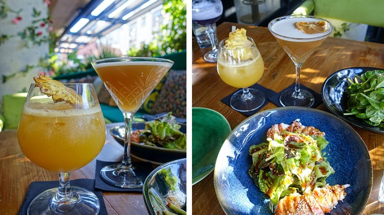 Restaurant Boujee Cape Town salads and cocktails