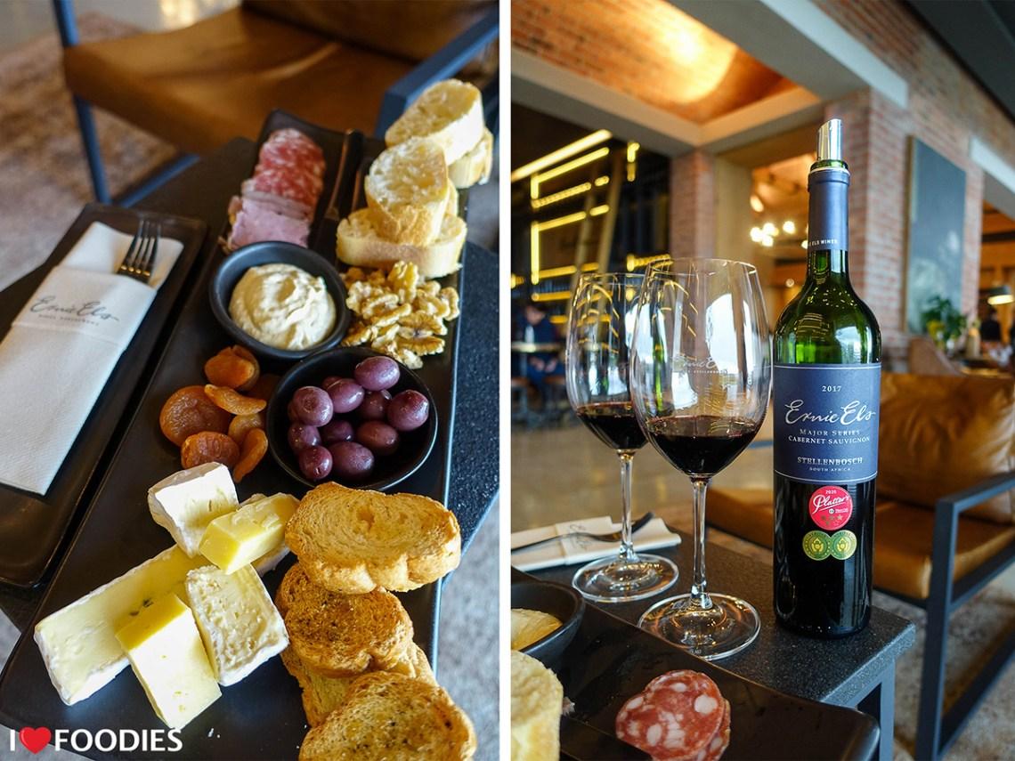 Ernie Els cheese & charcuterie platter