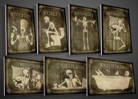 Decorate Your Home with Gothic Style Skeleton Door Signs