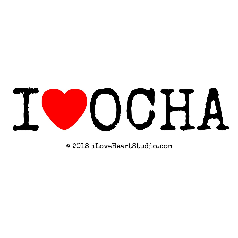 I Love Heart Ocha Design On T Shirt Poster Mug And