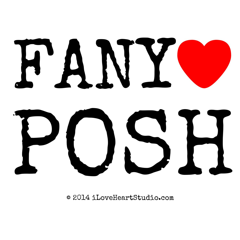 Fany Love Heart Posh Design On T Shirt Poster Mug