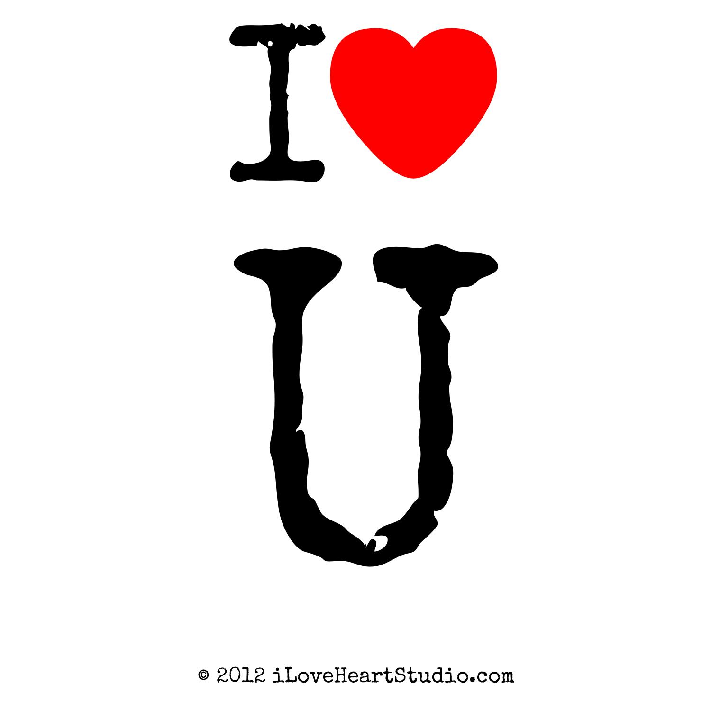 I Love Heart U Design On T Shirt Poster Mug And Many