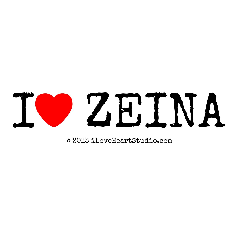 I Love Heart Zeina Design On T Shirt Poster Mug And