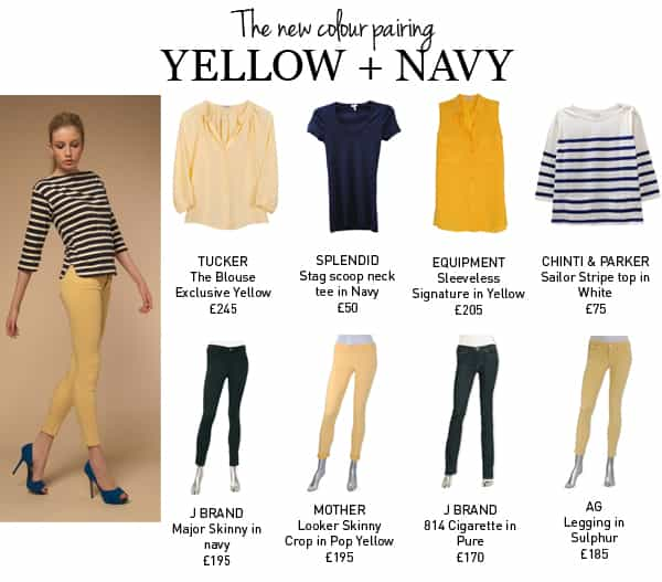 SHOP YELLOW + NAVY AT TRILOGY