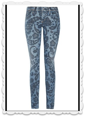 Citizens of Humanity Avedon paisley-print low-rise skinny jeans £255