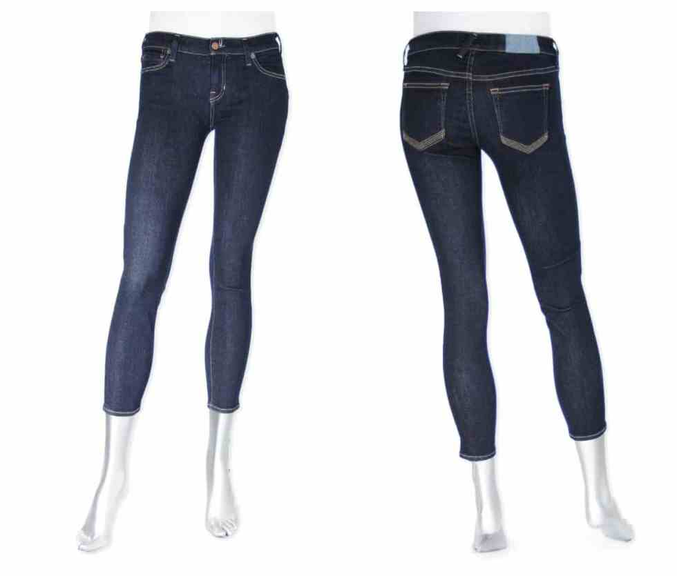 Shop Textile by Elizabeth and James  Ozzy skinny crop in Electric £160.00