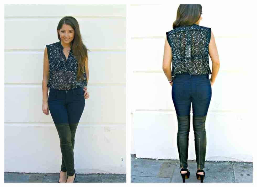 JADE IN THE JBRAND MINX SKINNY WITH LEATHER