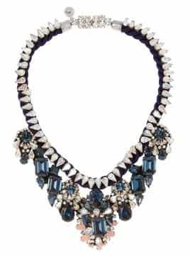 SHOUROUK Gilda silver-plated Swarovski crystal necklace,