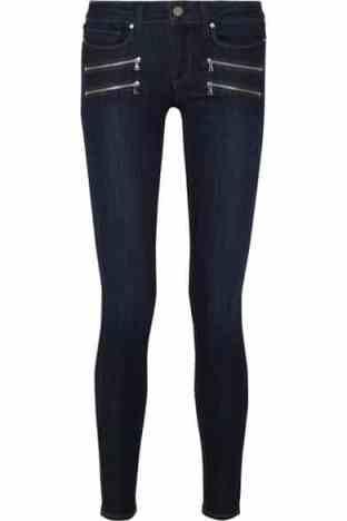 Skinny jeans with zips, Paige zip jeans, winter look denim