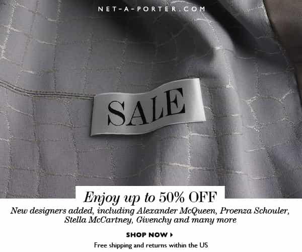 NET-A-PORTER SALE, 50% OFF DESIGNER FASHION, DENIM LOVERS