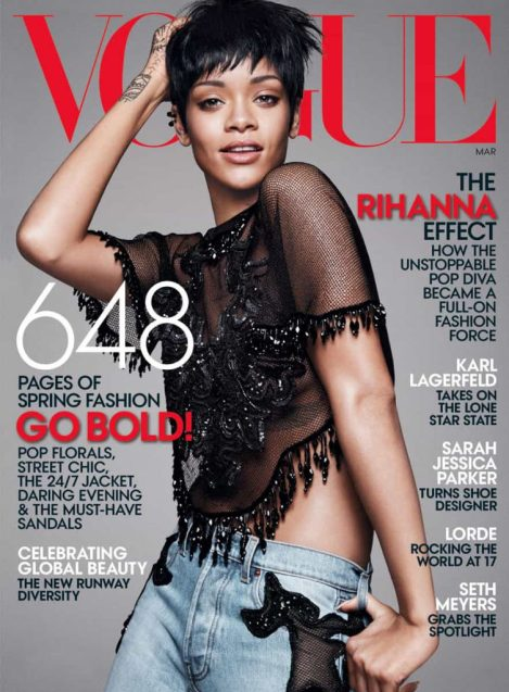 Rihanna,American Vogue, cover star , March 2014