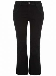 shopping for your shape, Evans black boot cut